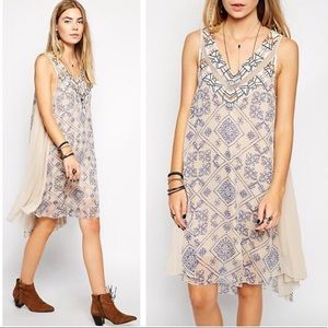 Free People Printed Ancient Mystery Beaded dress